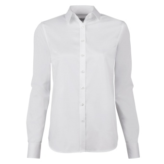 Shirt, Classic satin stretch white