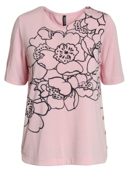 Topp, mönstrad rosa