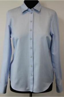 Skjorta, enfärgad ljusblå flanell
