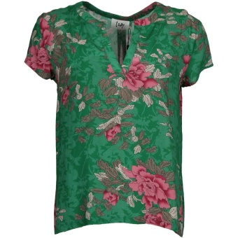 Blus, Annica V-Neck green power