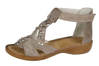 Damsko, sandalett beige