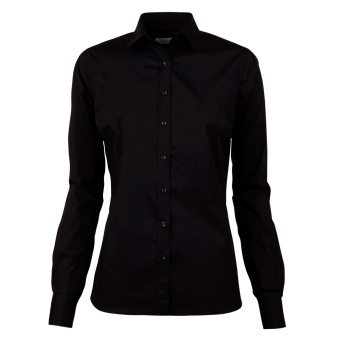 Feminine shirt, long sleeve black