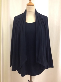 Cardigan 2 in 1 navy