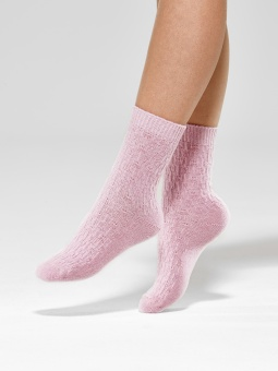 Ladies anklesock, Wool Cable Socks