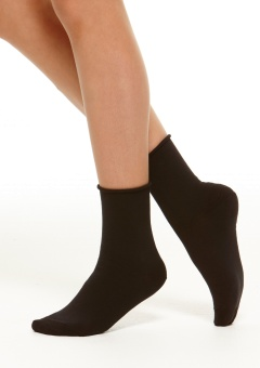 Ankelsocka, cotton comfort black