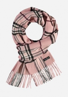 Sjal, Fraas rutmönstrad rosa