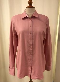 Skjorta, enfärgad rosa flanell