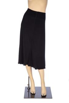 Kjol ulltrikå lång
