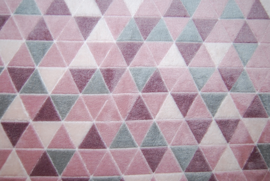 Triangles rosa korallfleece