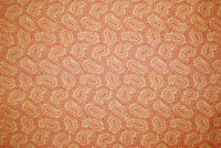 Paisley orange bomull