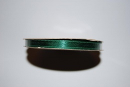 Satinband 6 mm grön