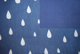 Soft shell denim rain drops