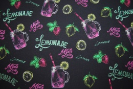 Neon lemonade svart digitalt tryck