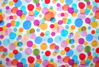Colourful circles digitalt tryck
