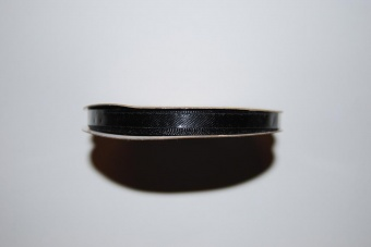 Satinband 6 mm svart
