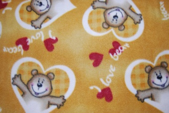 I love bears brun fleece