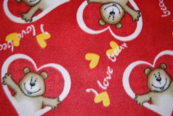 I love bears röd fleece