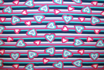 Hearts & stripes trikå
