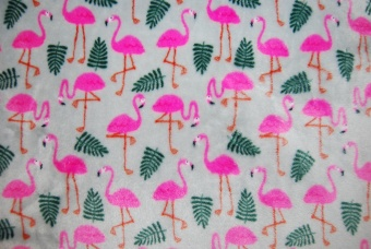Flamingos grå korallfleece