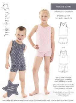 MiniKrea 33405 Underkläder 2-12 år