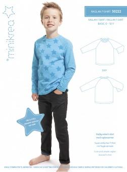 MiniKrea 50222 Raglan T-shirt 0-10 år