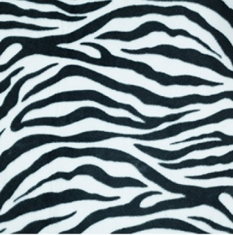 Zebra vit fleece