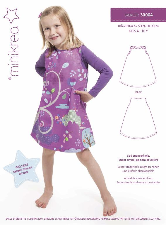 MiniKrea 30004 Spencer klänning 4-10 år