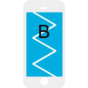 Byt iPhone 6 Skärm - Klass B - Vit