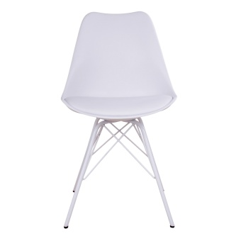Oslo Dining Chair - Chair in white with white legs