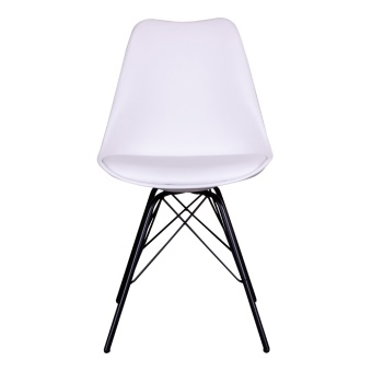 Oslo Dining Chair - Chair in white with black legs
