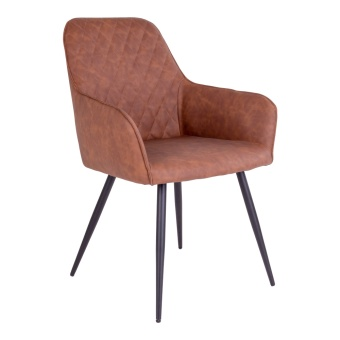 Harbo Dining Chair - Stol i vintage brun PU