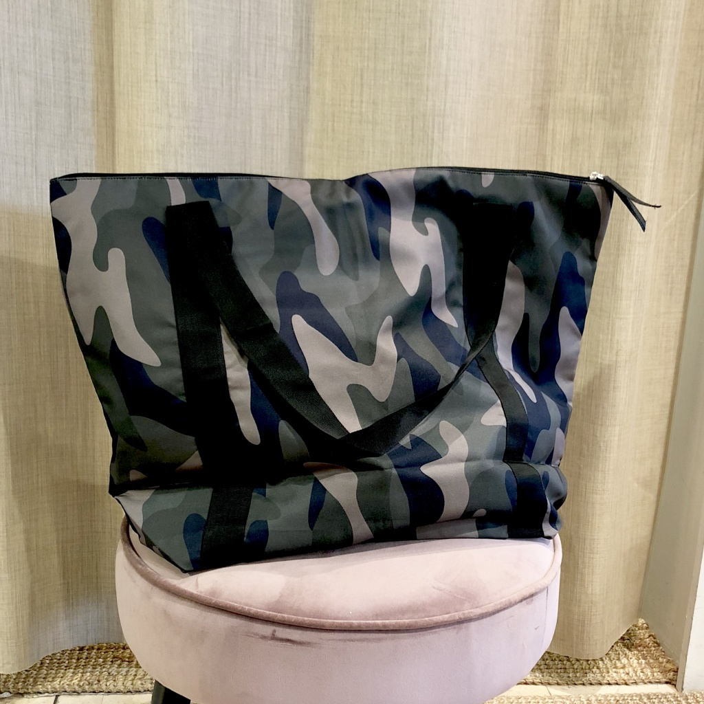 Black Colour Ally Shopper Camo