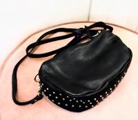 Black Colour Soft Box Studded Bag