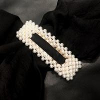 Black Colour Pearl Hairclip Rektangel