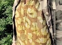 Rabens Saloner Kiki Flower print long dress