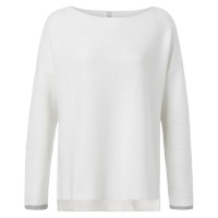 Yaya Basic Cotton Boat Neck