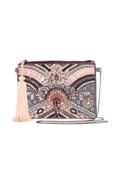Cream Milano Clutch