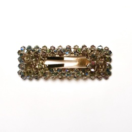 Black Color Ruby Hairclip Rectangle