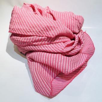 Black colour Candy stripe scarf