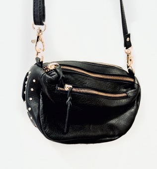 Black Colour Soft Box Studded Bag