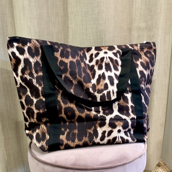 Black Colour Ally Shopper Klassisk Leo