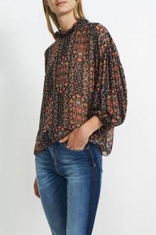 Hunkydory Floral Pleat Blus