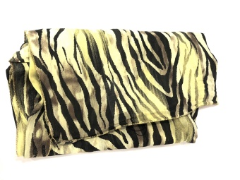 Black Colour Ziggy Zebra Scarf