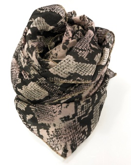 Black Colour Divine Snake Scarf