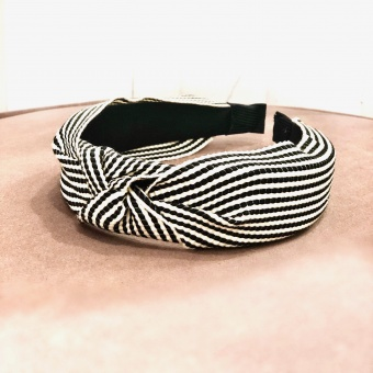 Black Colour Fifi stripe headband