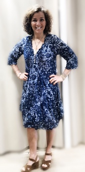 One Season Marbella Middy Poppy Navy