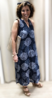 One Season Sicily Jacqui Dress Navy