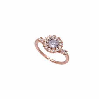 Lily & Rose Sofia Smokey Mauve Ring