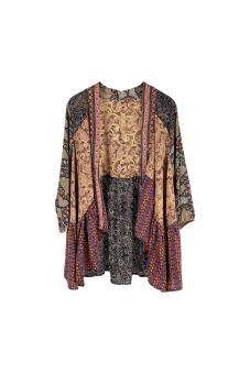 Black Colour Luna Boho Kimono