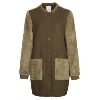 Yaya Fur Look Coat